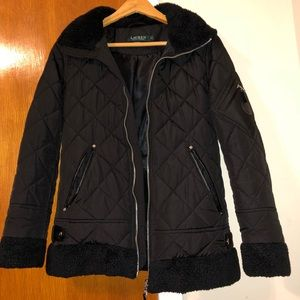 Ralph Lauren Polo Quilted Barn Riding Faux Fur